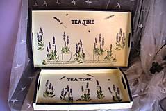 drevená tácka Tea time levanduľa 2