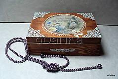 drevená šperkovnica Vtáky v tŕni