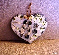 Tabuľky - Valentínka - srdiečko Amour I. - 8300924_