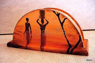 Pomôcky - drevený stojan na servítky Etno 2 - 8301305_