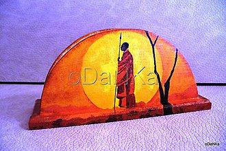 Pomôcky - drevený stojan na servítky Etno 1 - 8301319_