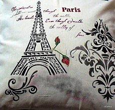 Úžitkový textil - obliečka na vankúš Paris - 8301990_
