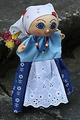 Maňuška. Bábika Dievčatko Anička v ľudovom kroji.