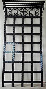 Nábytok - Kovaná vešiaková stena s policou - 8302131_