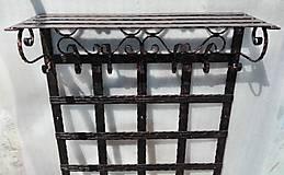 Nábytok - Kovaná vešiaková stena s policou - 8302133_