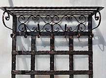 Nábytok - Kovaná vešiaková stena s policou - 8302134_