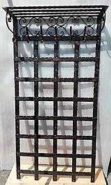 Nábytok - Kovaná vešiaková stena s policou - 8302135_