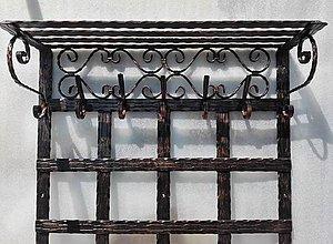 Nábytok - Kovaná vešiaková stena s policou (dĺžka 120 cm) - 8302134_