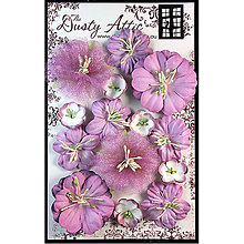 Papier - Dusty in Bloom - Evening Blush (sada ružových kvietkov na scrapbooking) - 8298976_