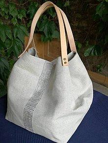 Veľké tašky - Taška - režné plátno, bavlna - 8299196_