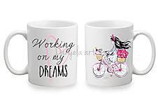 Nádoby - CYCLE GIRL mug - 8301235_