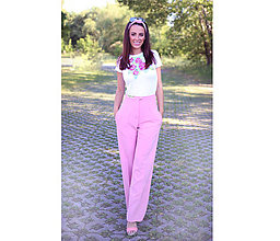 Nohavice - PRETTY PINK trousers - 8301647_