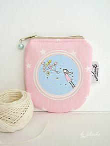 Peňaženky - Len ja a môj svet - ružová peňaženka - 8298939_