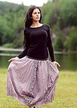 Sukne - Voálová s tiskem - fialová - 8299812_