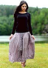 Sukne - Voálová s tiskem - fialová - 8299816_