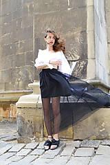 Sukne - Sukňa sťa čierna hmla - zľava  - 8300488_