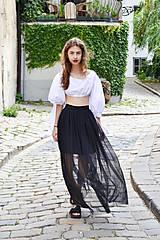 Sukne - Sukňa sťa čierna hmla - zľava  - 8300489_