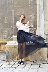 Sukne - Sukňa sťa čierna hmla - zľava - 8300490_