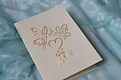 Papiernictvo - Svadobné blahoželanie - motýle - 8300981_
