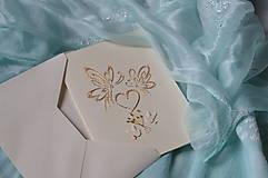 Papiernictvo - Svadobné blahoželanie - motýle - 8300984_