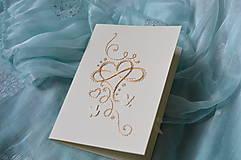 Papiernictvo - Svadobné blahoželanie - nekonečná láska - 8300988_
