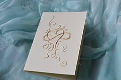 Papiernictvo - Svadobné blahoželanie - nekonečná láska - 8300990_