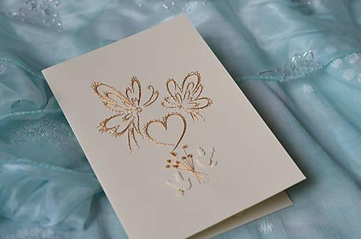 Svadobné blahoželanie - motýle
