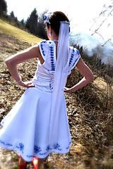 Šaty - Svadobné šaty SNEHULIENKA - 8302995_