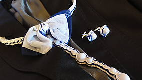Sady šperkov - Svadobný set pre neho a pre ňu SNEHULIENKA - 8303083_