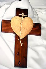 Dekorácie - Kríž morený - veľký - 8303245_