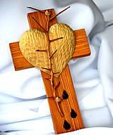 Dekorácie - Krížik borovicový - malý - 8303296_