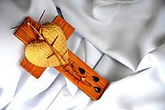 Dekorácie - Krížik borovicový - malý - 8303314_