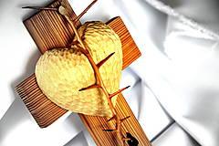 Dekorácie - Krížik borovicový - malý - 8303318_