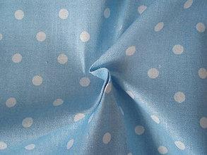 Textil - Svetlomodrá - malé bodky 4mm - 8303239_