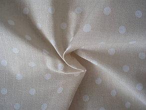 Textil - Béžová - malé bodky 4mm - 8303268_