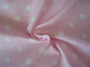 Textil - Ružová - malé bodky 4mm - 8303303_