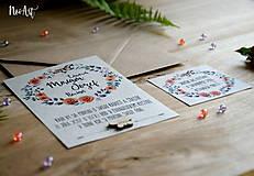 Papiernictvo - Svadobné oznámenie 30 - 8303086_