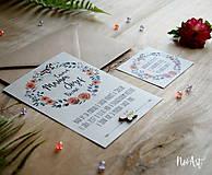 Papiernictvo - Svadobné oznámenie 30 - 8303087_
