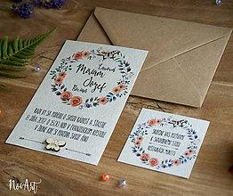 Papiernictvo - Svadobné oznámenie 30 - 8303089_