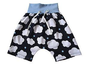 Detské oblečenie - Krátke nohavice obláčiky - 8302180_