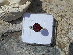 Prstene - RED GARNET in silver - 8302551_