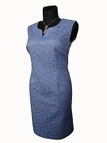 Šaty - šaty so žakardovým vzorom - 8302733_