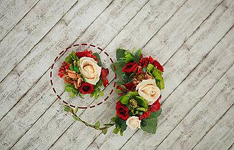 Odznaky/Brošne - Kvetinová brošňa pre nevestičku - 8305003_