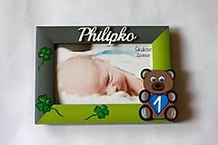Detské doplnky - Fotorámik štvorlístky pre šťastie - 8303357_