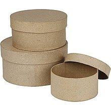 Polotovary - Papierová krabica Kruh 15x7,5 cm - 8303872_