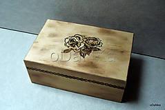 drevená šperkovnica Vypaľovaná ...