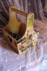 Košíky - drevená prenoska (Best wine in town) - 8302757_