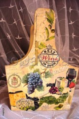 Košíky - drevená prenoska (Best wine in town) - 8302758_