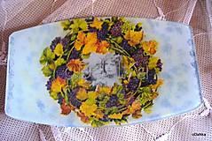 Nádoby - sklenená tácka Vinobranie - 8303468_