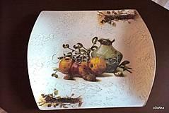 Nádoby - sklenená tácka Jabĺčka - 8303484_
